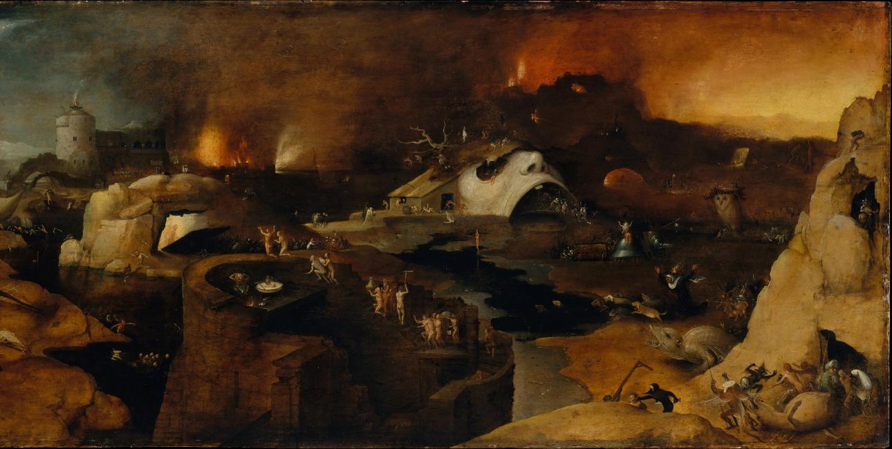 """""""Christ's descent into Hell"""" - malet af en følger af Hieronymus Bosch"""