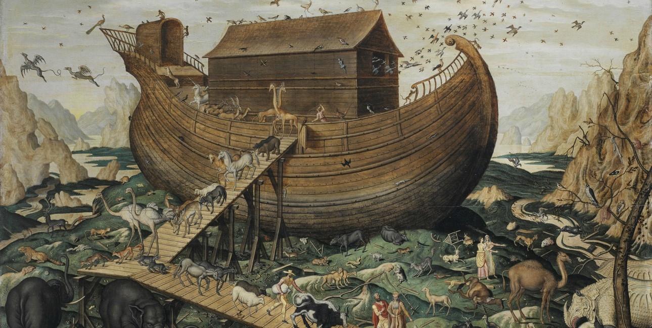 Noas ark på Ararats bjerg.