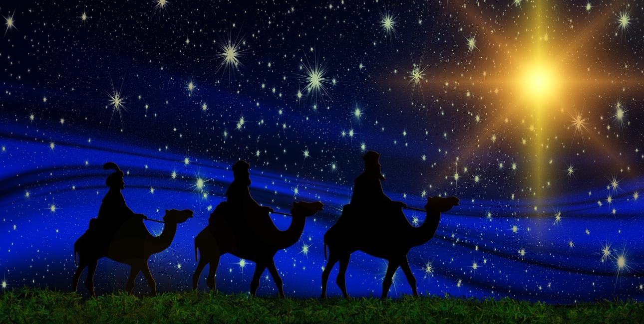 De Vise Mænd følger julestjernen