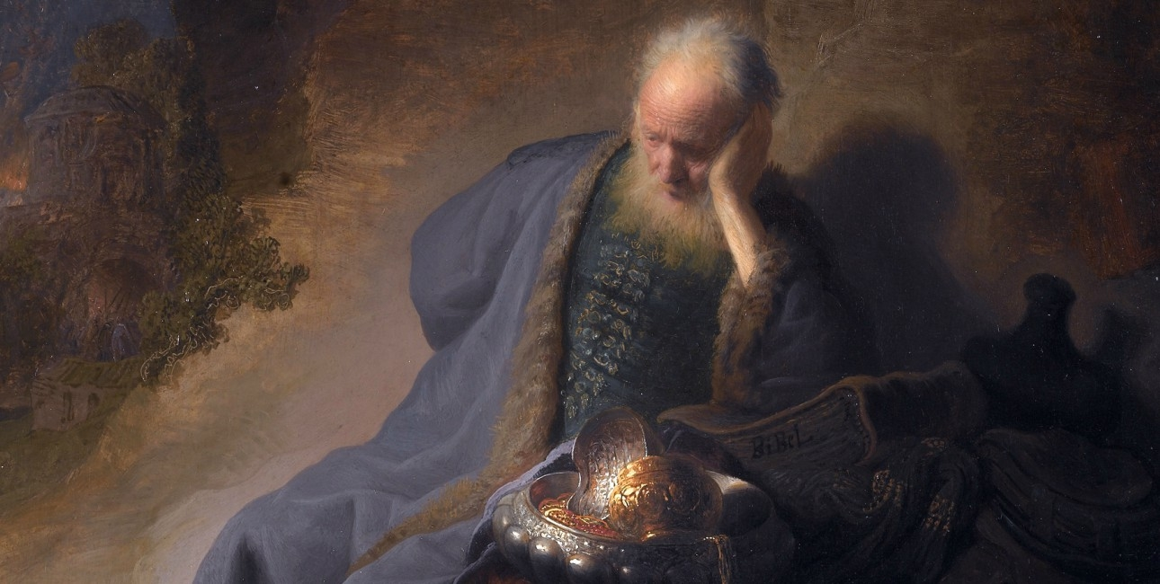 Jeremias begræder ødelæggelsen af Jerusalem.