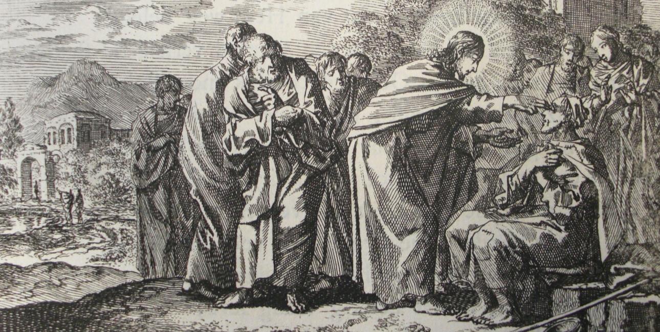 Jesus helbreder en blind mand