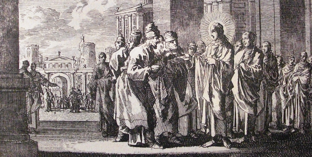 Jesus diskuterer med farisæerne