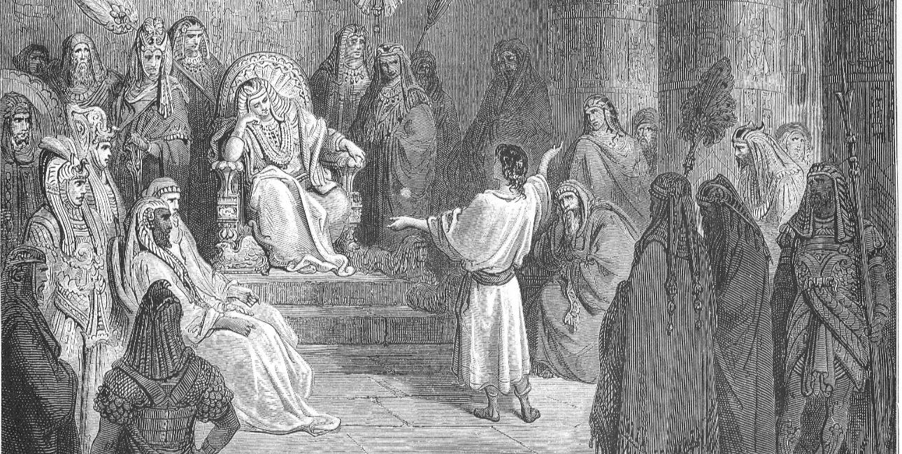 """Joseph Interprets Pharaos Dream"" - fra Dorés English Bible"