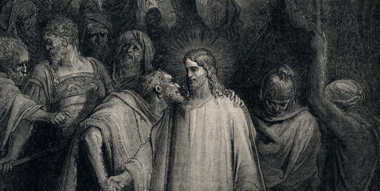 Judaskysset af Gustave Doré.