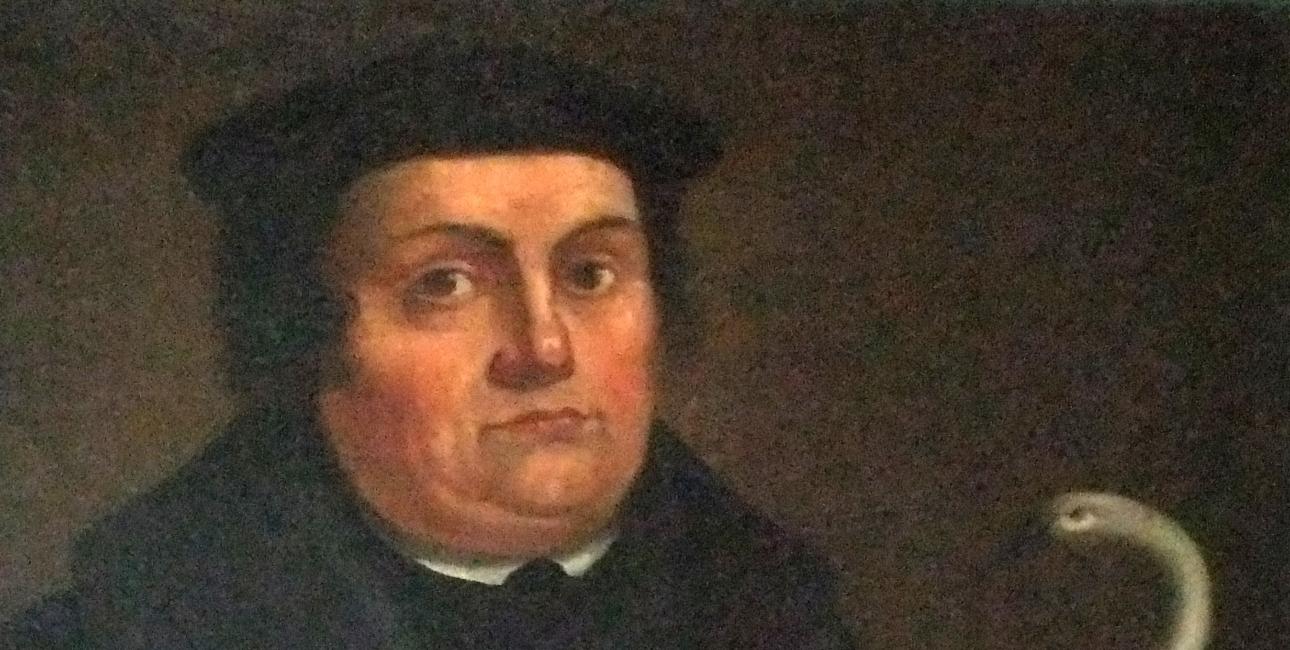 Portræt af Martin Luther af Johann Friedrich Glocker