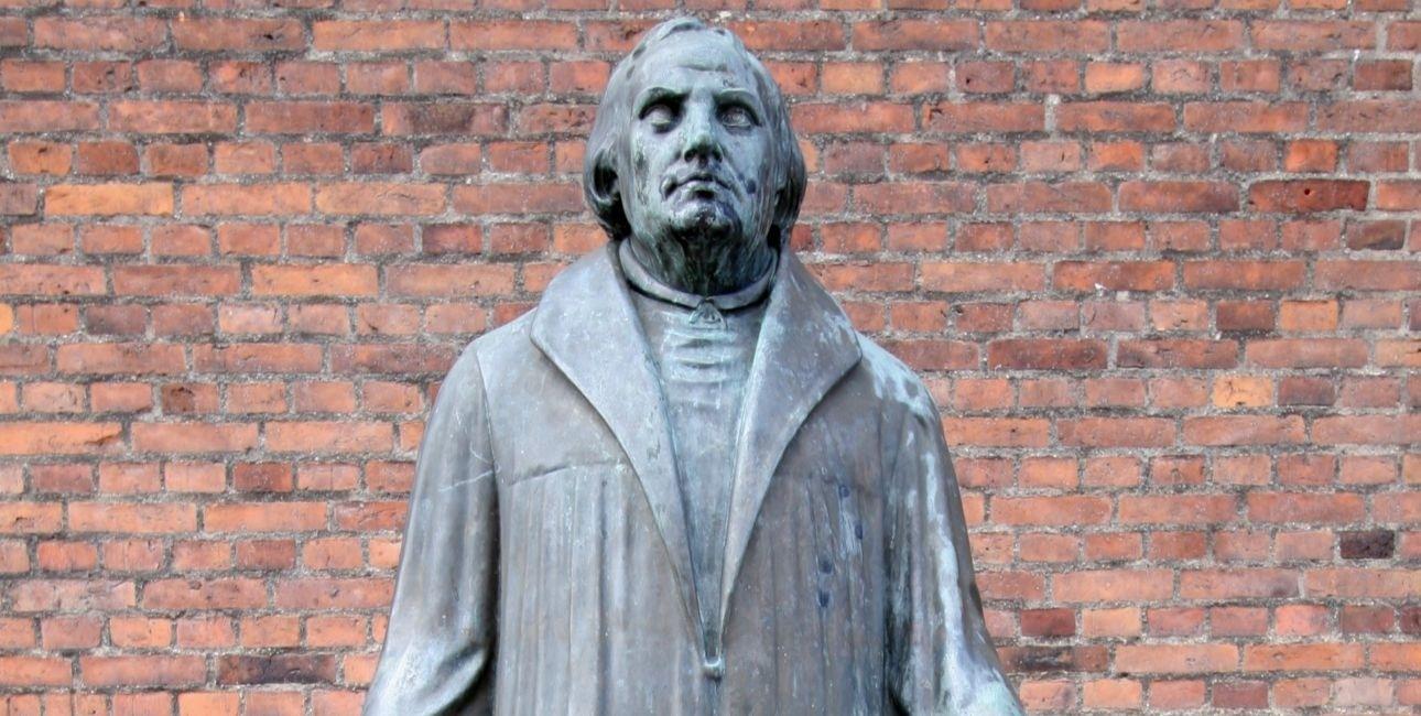 Martin Luther-statue fra Lutherkirken på Østerbro