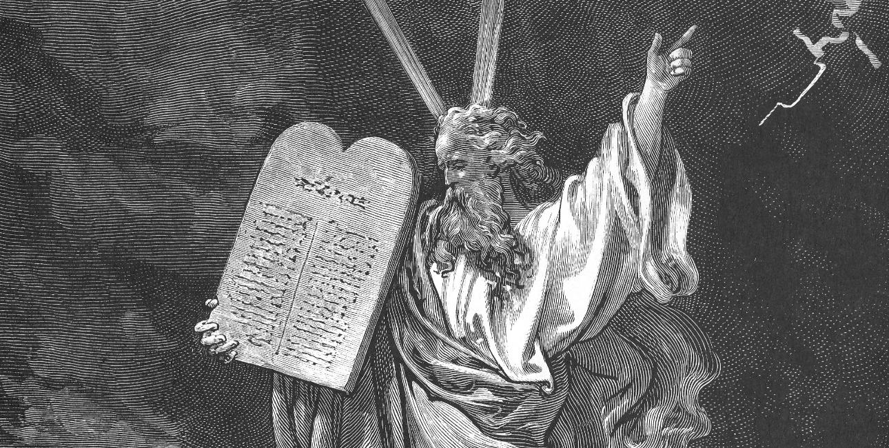 Moses kommer ned fra Sinajbjerget