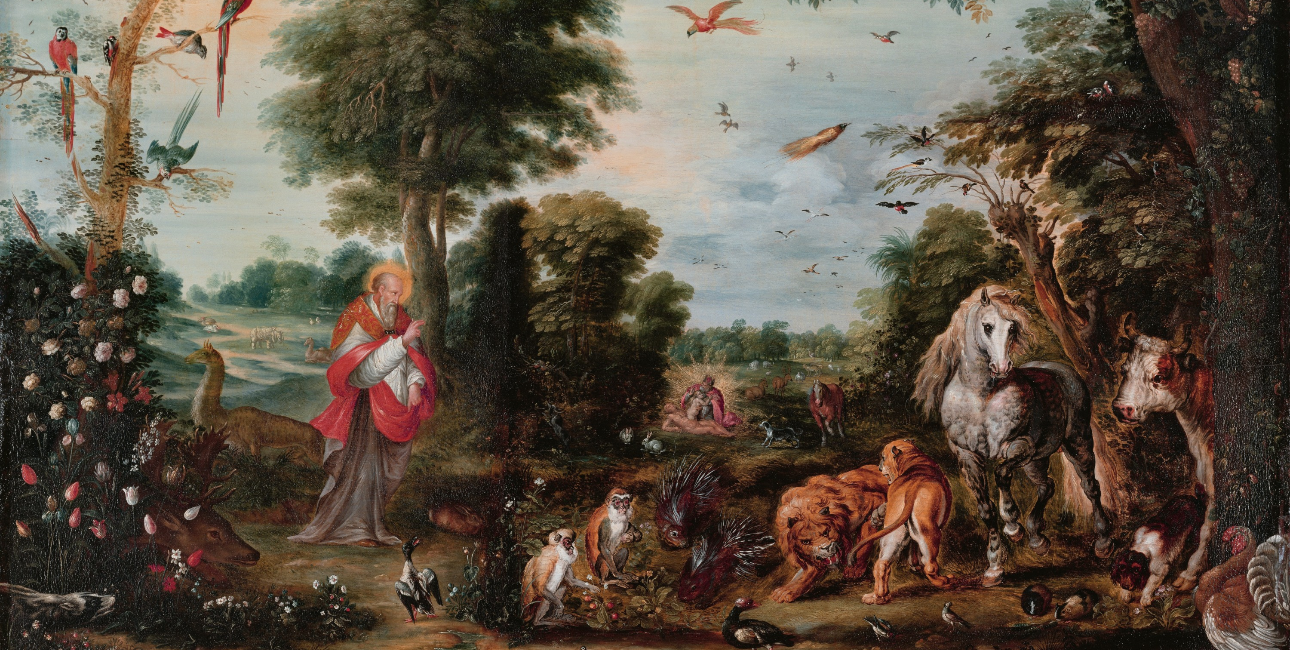 """Paradise and the Creation of the Animals"" - af Jan Brueghel"
