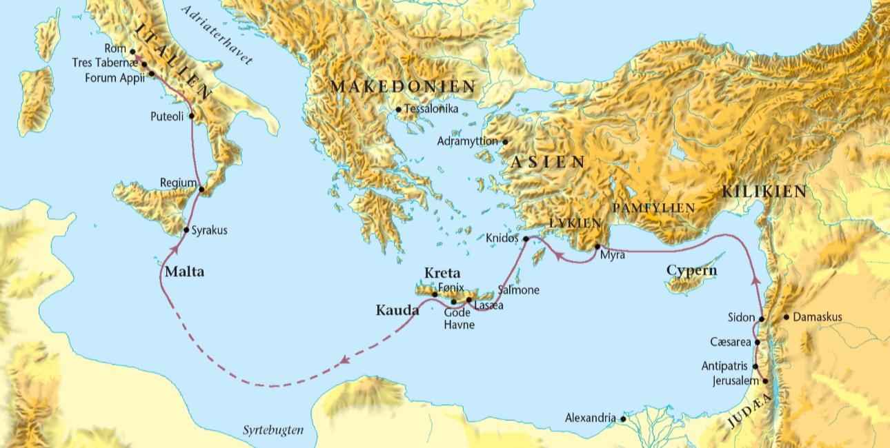 Bibelatlas: Paulus' rejser