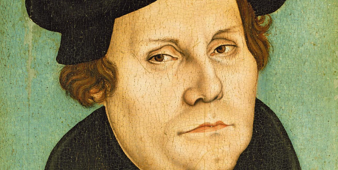 Portræt af Martin Luther fra 1528 af Lucas Cranach den Ældre