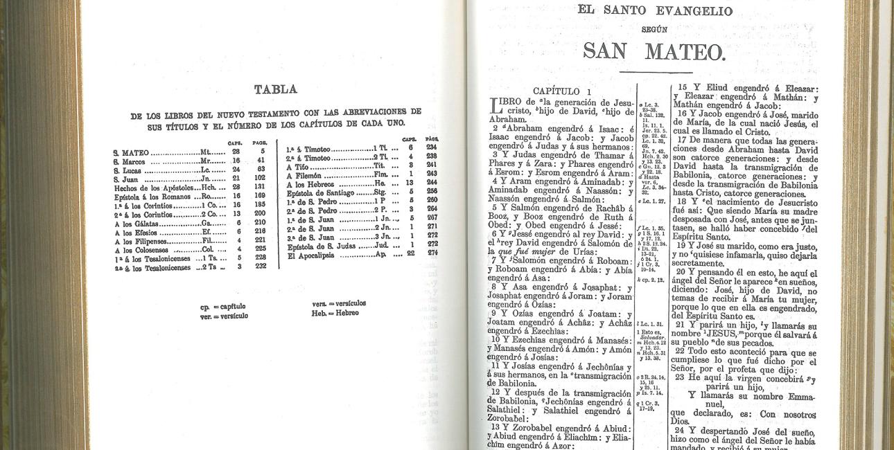 Reina Valera-Bibel fra 1909