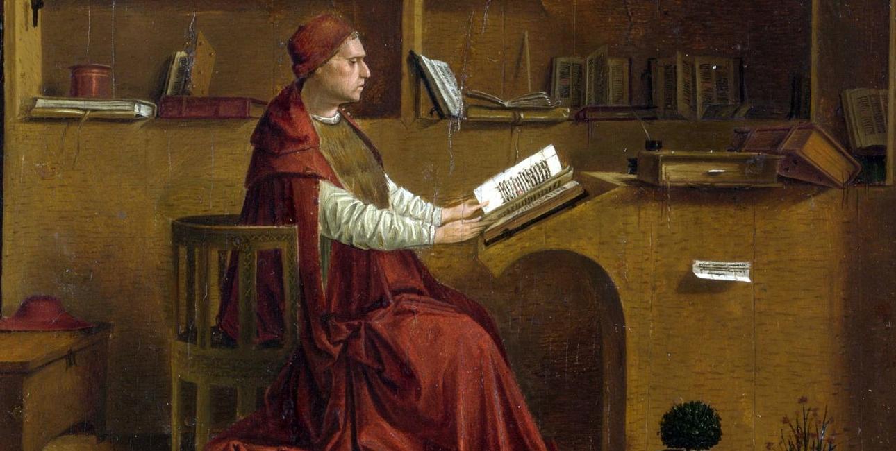 Saint Jerome in his study - af Antonello da Messina