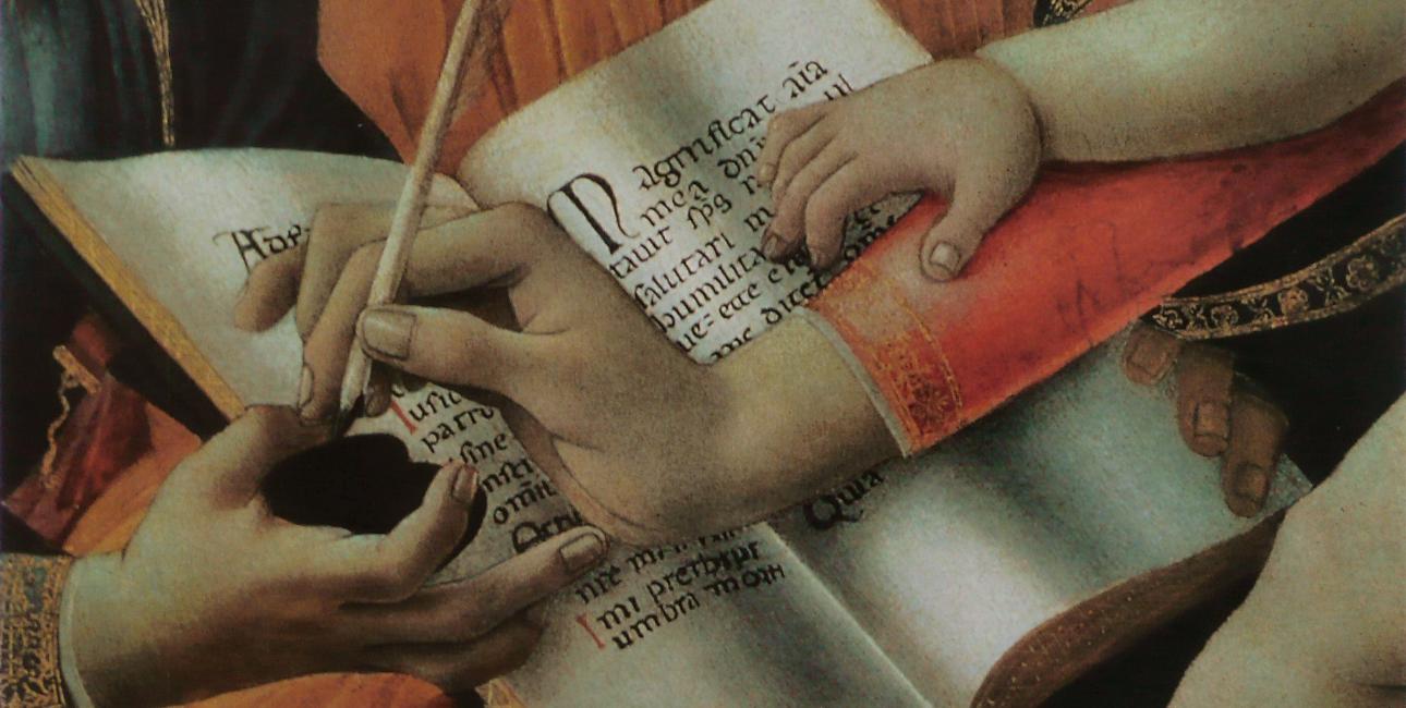 """Sektion af """"Madonna del Magnificat"""" - Sandro Botticelli"""