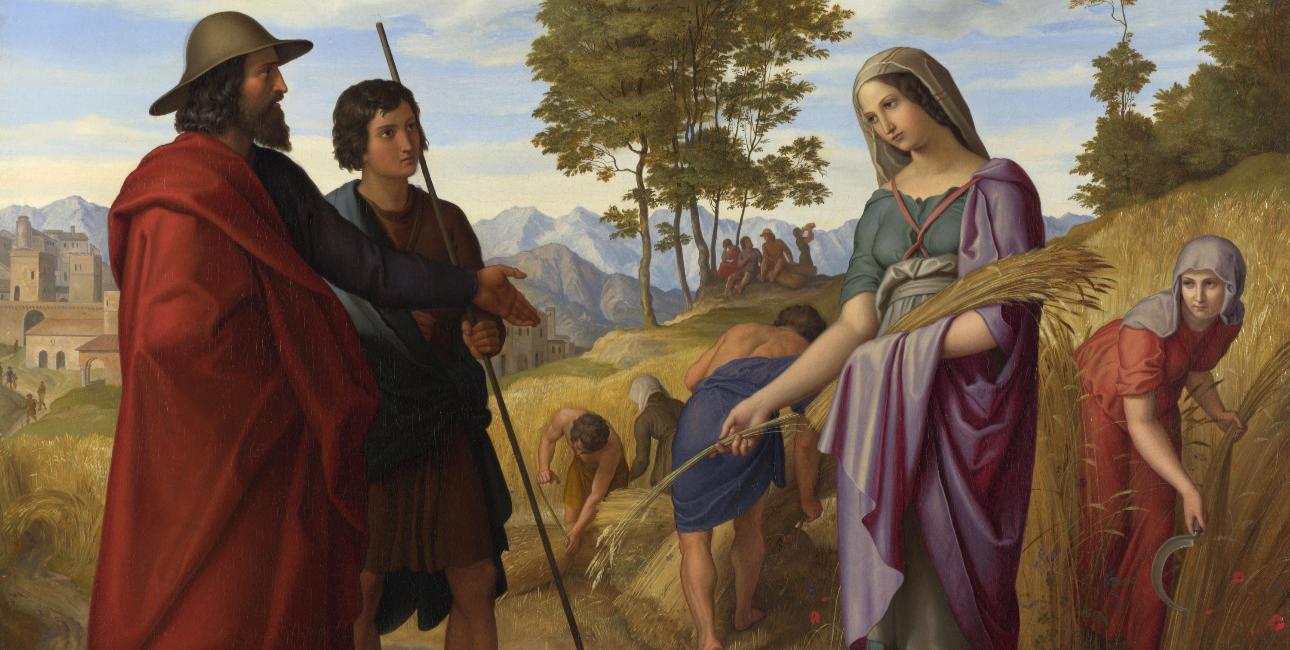 """""""Ruth in Boaz's Field"""" - af Julius Schnorr von Carolsfeld"""