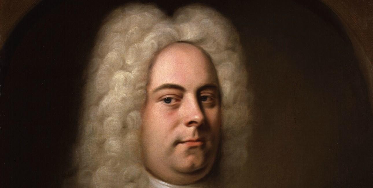 Portræt af den kendte komponist Händel.
