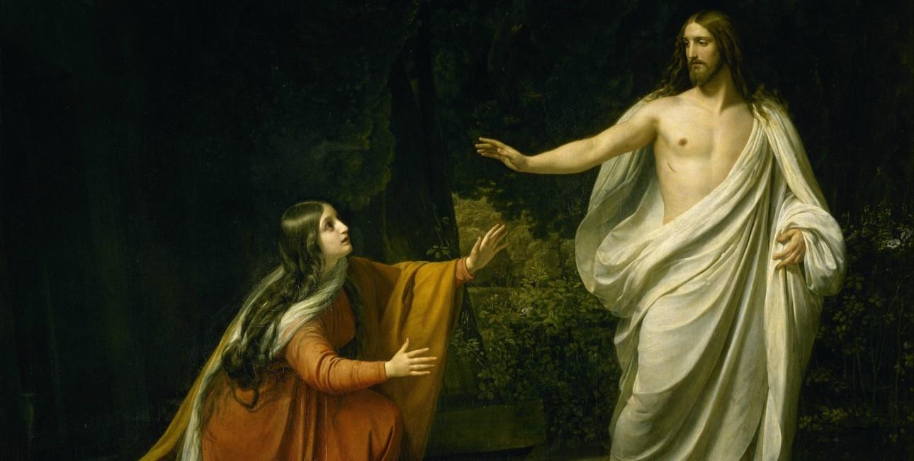 """""""Christ's appearing to Mary Magdalene after the Resurrection"""" fra 1835 af Alexander Andreyevich Ivanov (1806-1858)."""