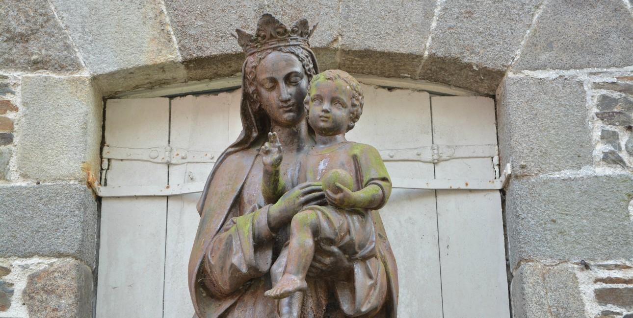 Jomfru Maria og Jesus.
