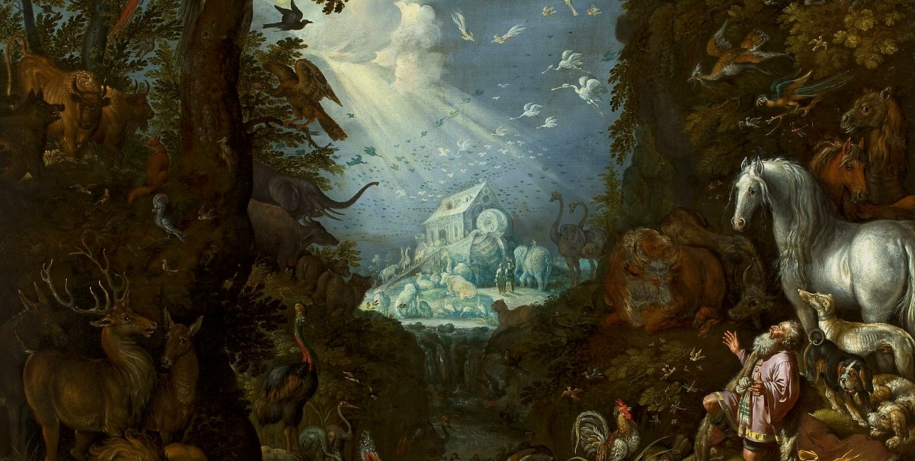 """""""Noahs Ark"""" fra ca. 1628 af oelant Savery. Findes på National Museum i Warsaw."""