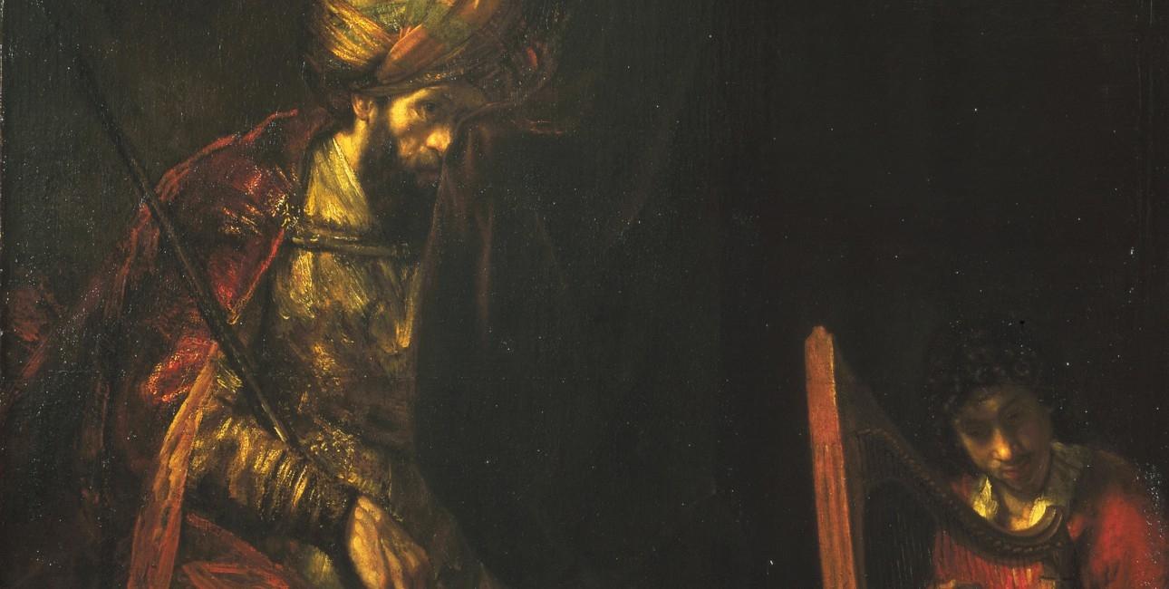 """""""Saul og David"""" af Rembrandt."""