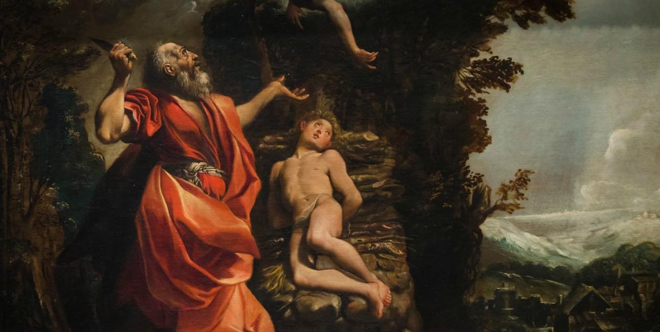 Abraham er ved at ofre Isak.