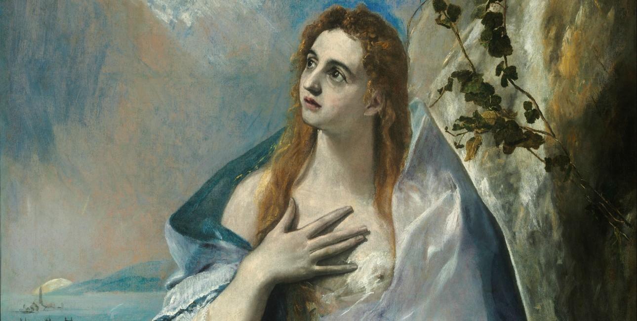 """""""The Penitent Mary Magdalene"""" fra 1576-1578 af El Greco (1541-1614). Findes på Museum of Fine Arts i Budapest."""