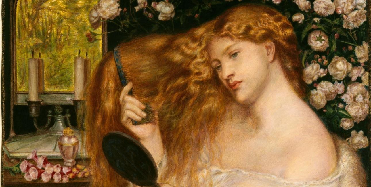 """""""Lady Lilith"""" fra 1867 af Dante Gabriel Rossetti (1828-1882). Findes på The Metropolitan Museum of Art."""
