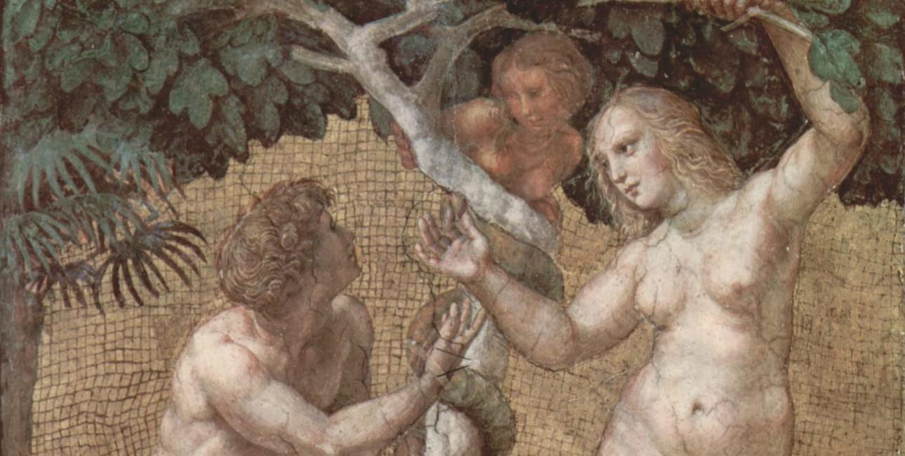 Adam og Eva ved Kundskabens Træ.