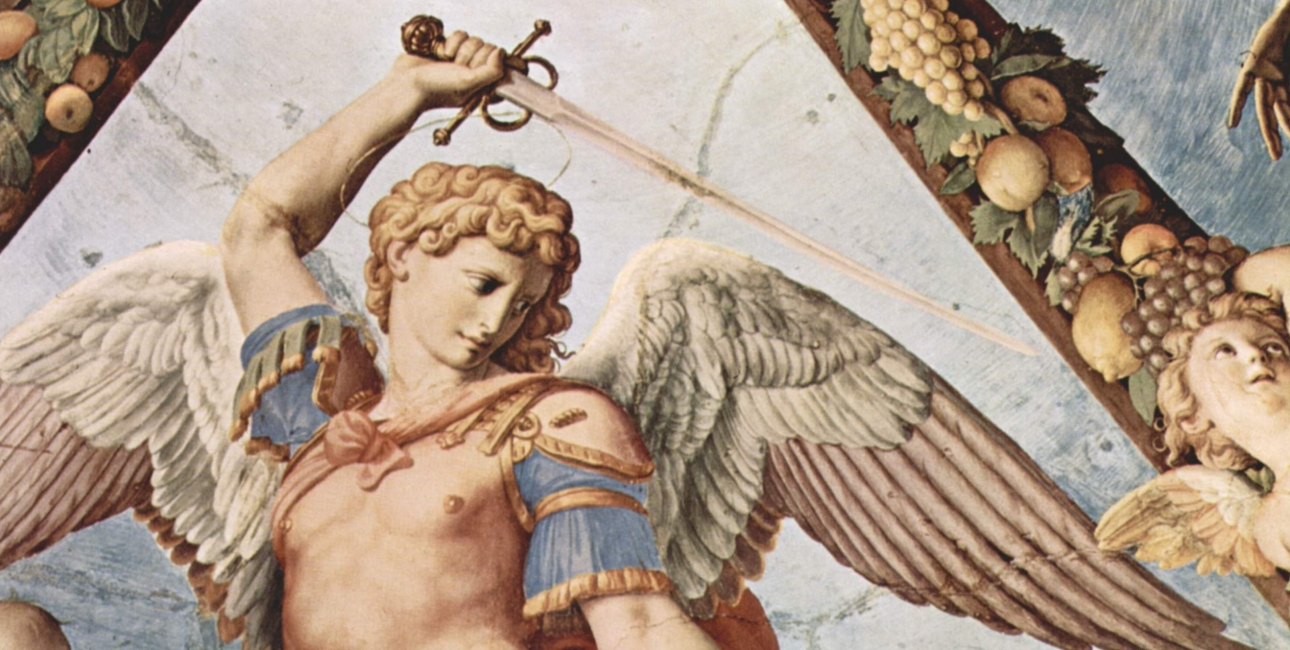 Ærkeenglen Mikael, malet af Bronzino. Foto: Wikimedia Commons.