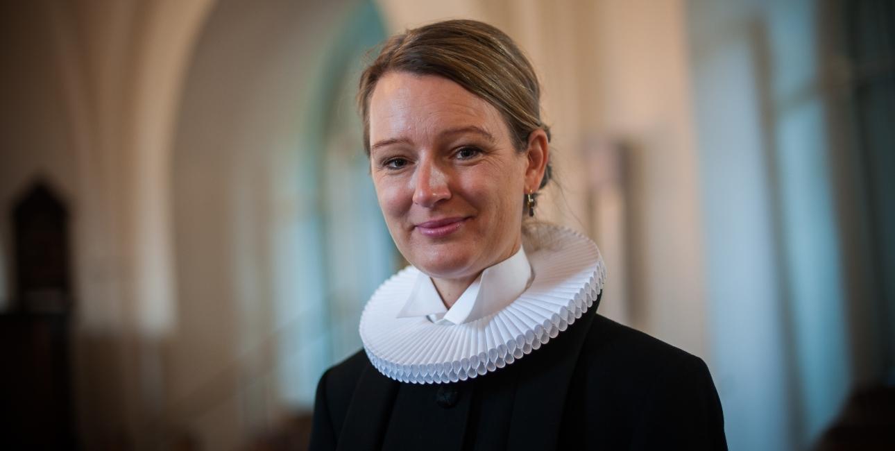 Sognepræst Amalie Nørgaard Rathje deltog i undervisningen på Folkekirkens Uddannelses- og Videnscenter i februar og har efterfølgende holdt to kursur i metoden. Foto: Nicola Fasano