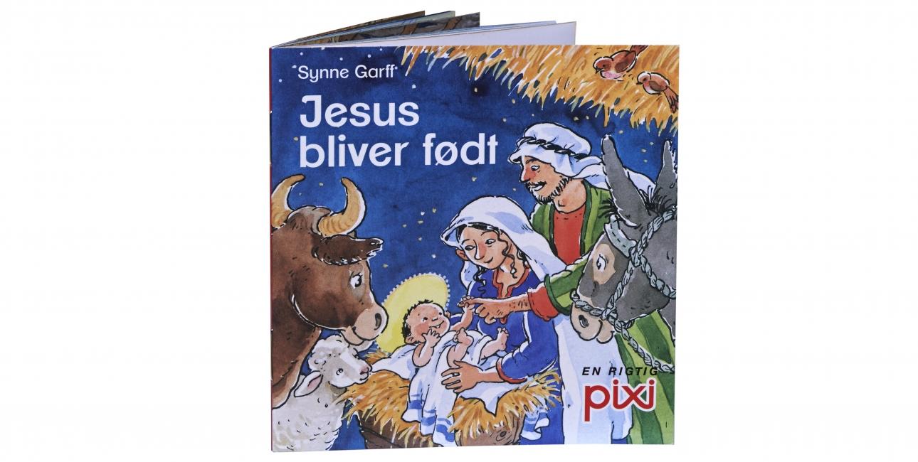 """Pixi-bogen """"Jesus bliver født"""" er lavet af Synne Garff."""
