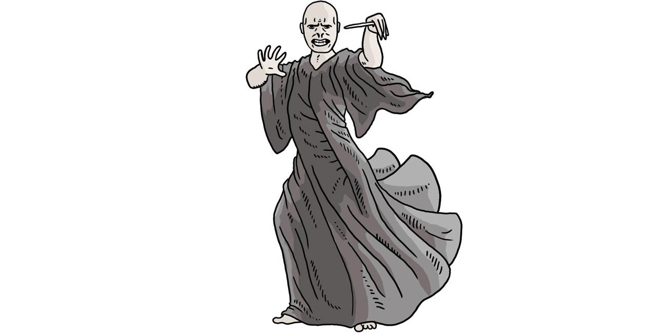 Lord Voldemort. Illustreret af Marie Dyekjær Eriksen.