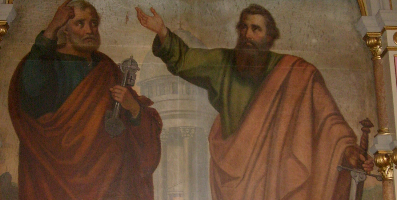 Saint Péter and Pául Altarpiece Depicting Apostles in the Church of Sajónémeti - Farkas Gergely 1290x650