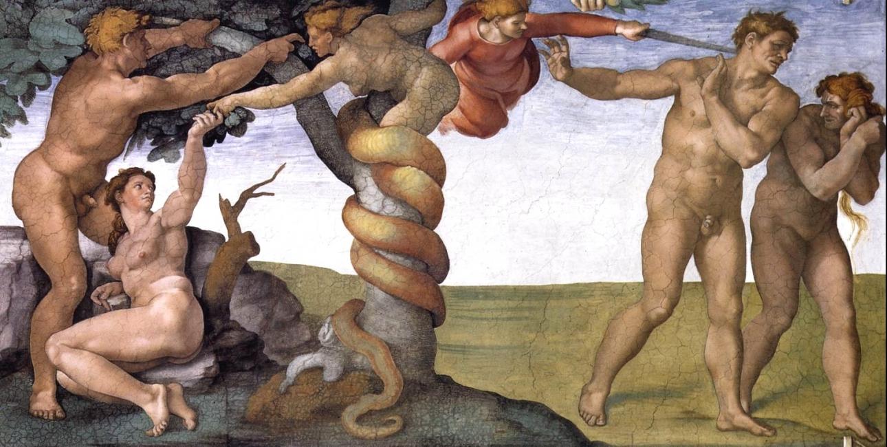 Syndefaldet - Fresko fra Det Sixtinske Kapel, af Michelangelo