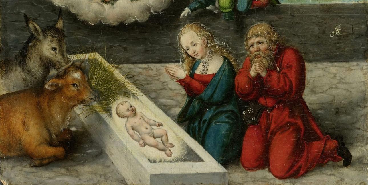 """Fejringen af julen ændrede karakter under og efter reformationstiden, fortæller forfatter Maria Helleberg. Oliemaleri: """"Tilbedelsen af Kristus"""", af Lukas Cranach den Ældre. Malet ca. 1545-50."""
