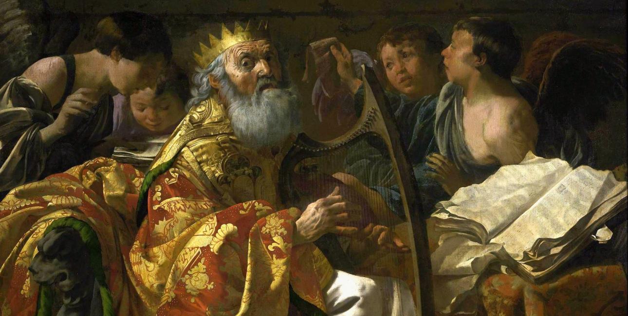 David med harpen er et yndet motiv. Maleri af Hendrick ter Brugghen.