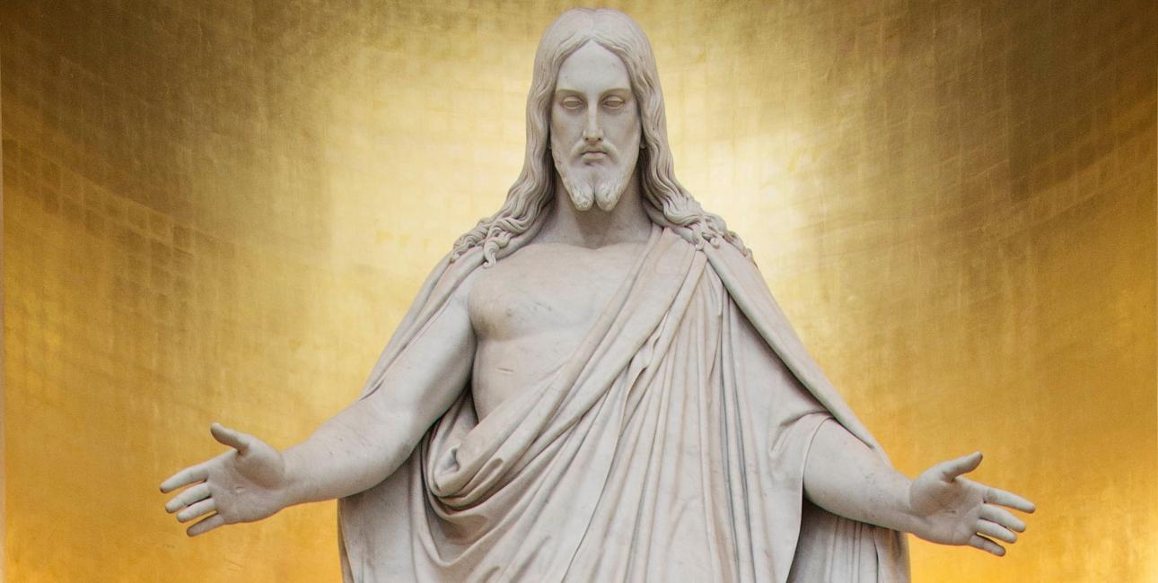 Jesus i Københavns Domkirke. Skulptur af Thorvaldsen.