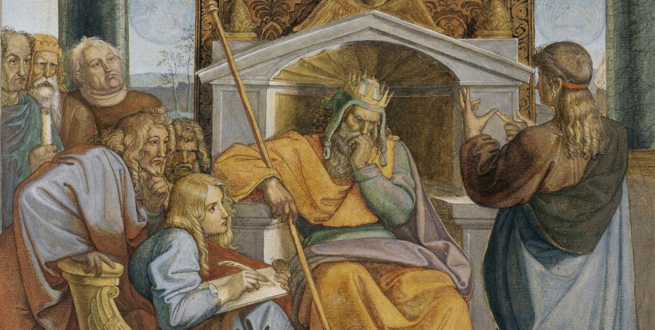 Josef tyder Faraos drøm. Maleri af Peter von Cornelius.