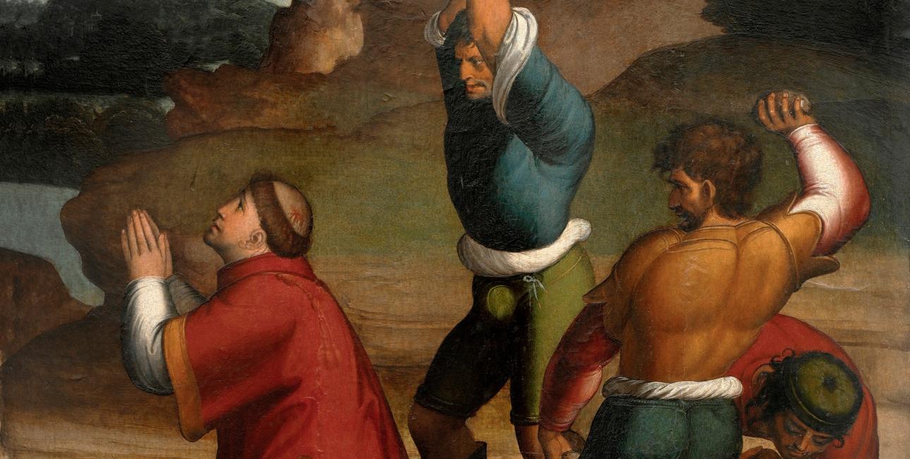 Anden juledag har også et andet navn, nemlig Sankt Stefans dag. Den er opkaldt efter Stefanus, som man kan læse om i Apostlenes Gerninger. Han blev den kristne kirkes første martyr. Maleri af Juan Correa de Vivar.