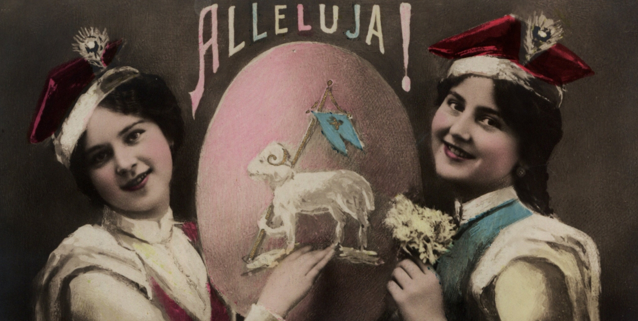 Hallelujah. Polsk postkort fra ca. 1900.