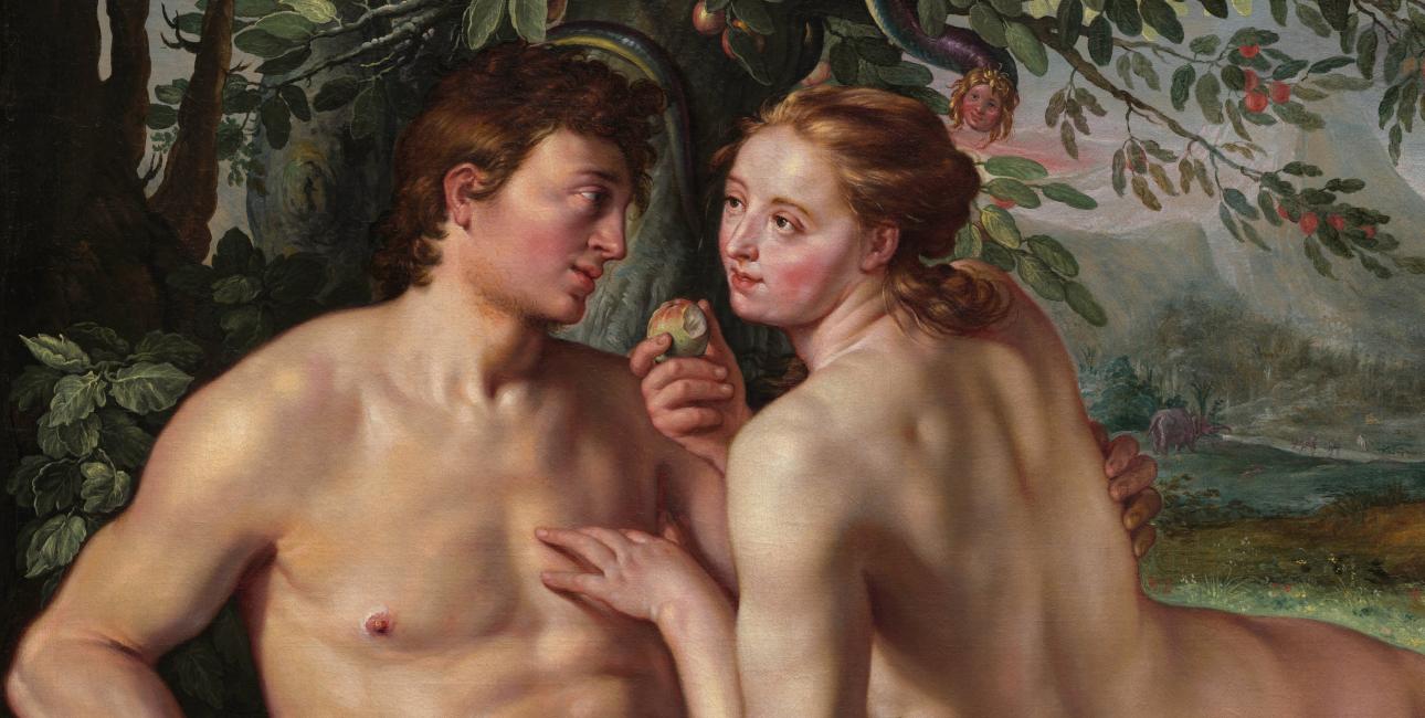 """Hendrik Goltzius' """"Syndefaldet"""" fra 1616. Fra Wikimedia."""