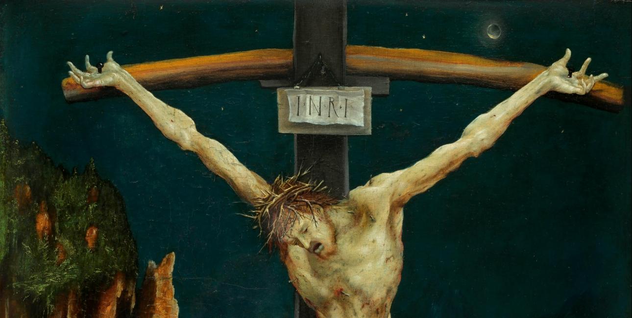 """The small crucifixion"" af Matthias Günewald."