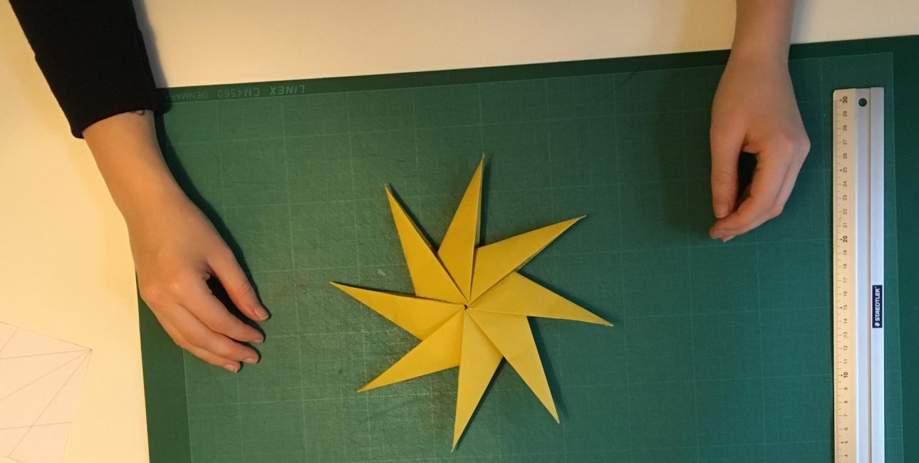 Origami-julestjerne