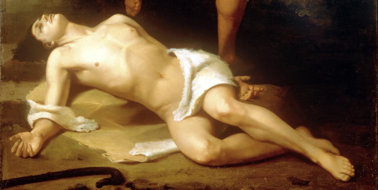 Abels død. Udsnit af Santiago Rebulls. Wikimedia commons.