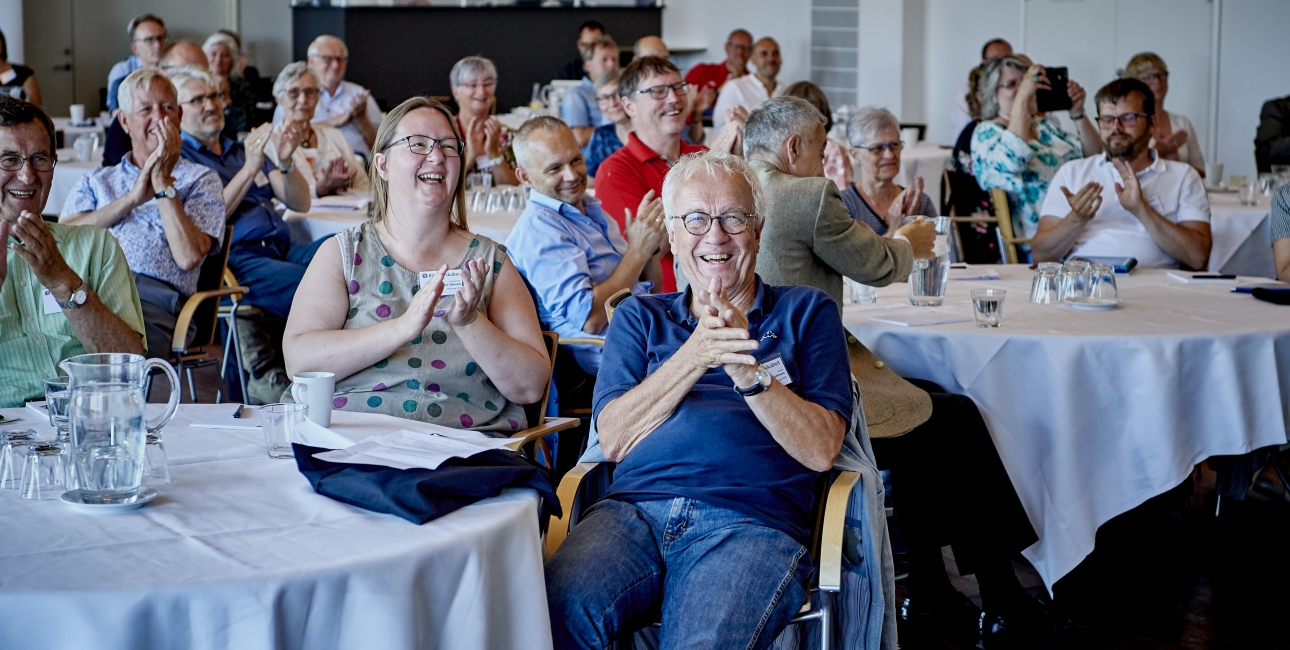 Grin i salen, Repræsentantskabsmøde 2018. Foto: Carsten Lundager.
