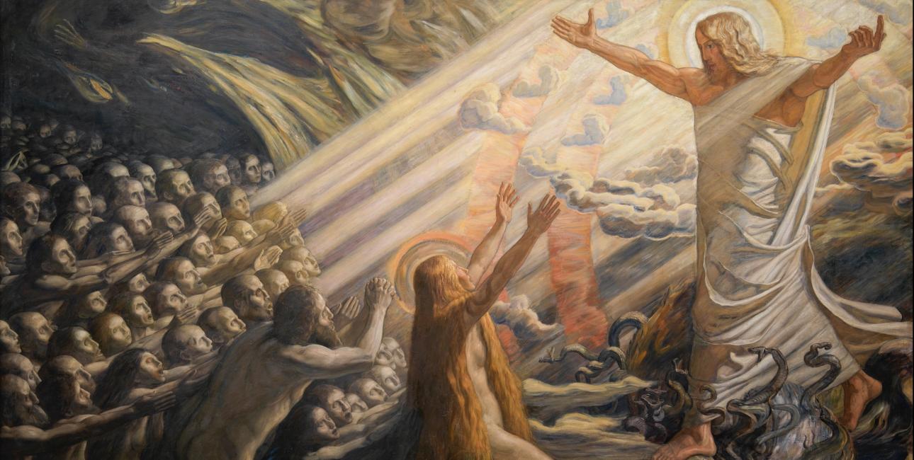 """""""Kristus i de dødes rige"""" af Joakim Skovgaard. Billede: Wikimedia Commons."""