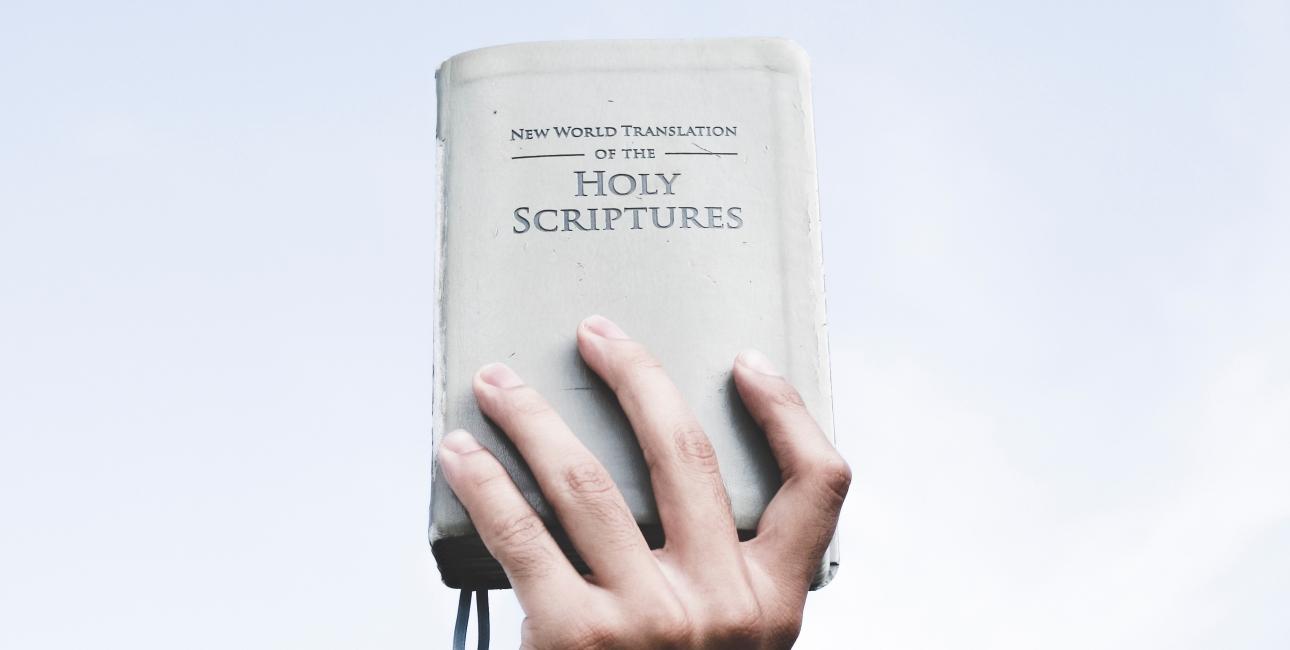 Ny verden-oversættelsen. Jehovas vidners oversættelse af Bibelen.