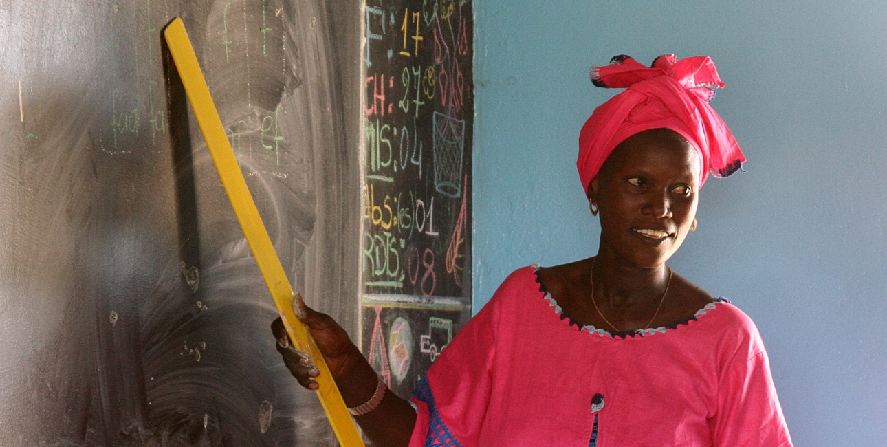 Lærerinde Nigeria. Foto: