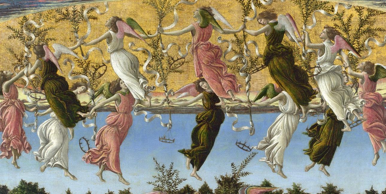 Jesus' fødsel. Maleri af Sandro Botticelli.