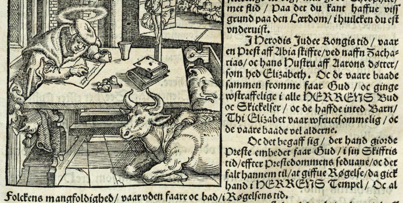 Christian 3.'s Bibel. Kilde: Det Kongelige Bibliotek.