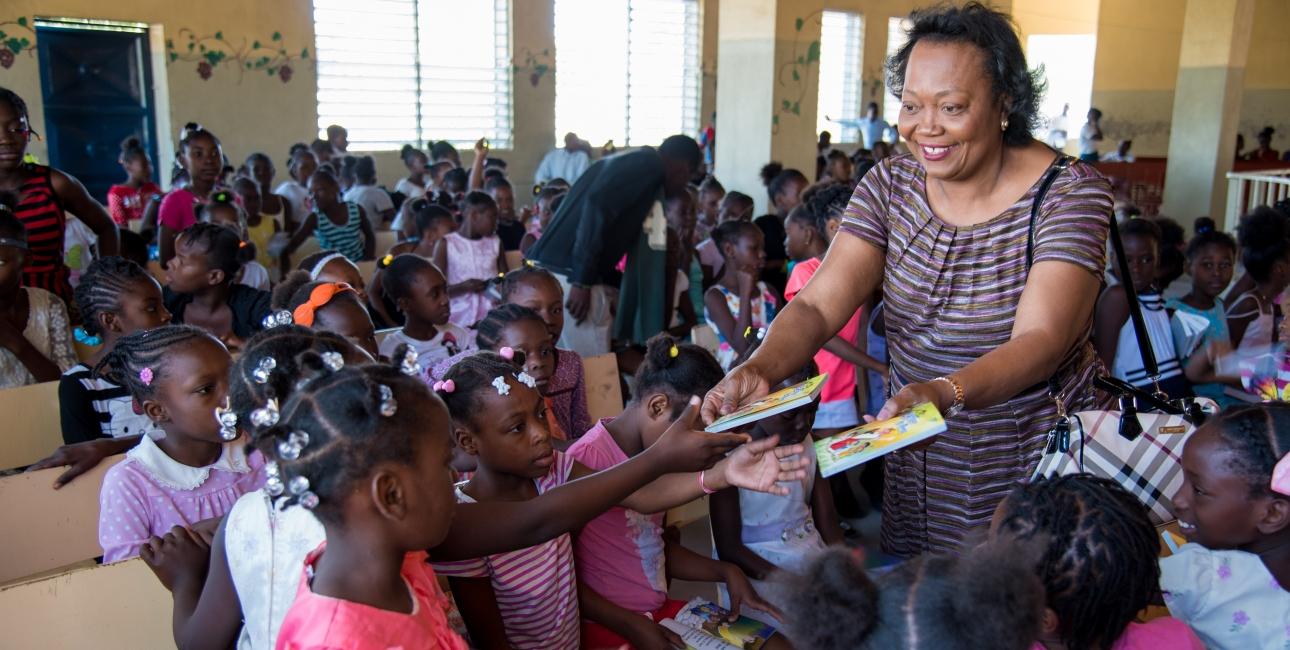 Generalsekretær Magda Victor i Bibelselskabet på Haiti